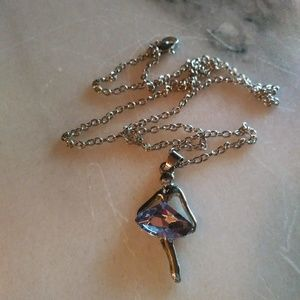 Free gift with a $15 purchase ballerina necklace